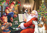 Sprite Prints - Christmas Carols Print by Zorina Baldescu