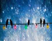 Storm Prints - Christmas Lights Print by Bob Orsillo