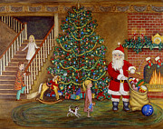 Best Sellers Painting Prints - Christmas Visitor Print by Linda Mears