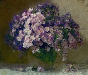 Interior Still Life Mixed Media Metal Prints - Chrysanthemums 2 Metal Print by Vasiliy Agapov