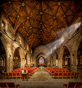 British Digital Art Prints - Church Light Print by Adrian Evans