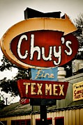 Tex-mex Art - Chuys Sign 2 by Kristina Deane