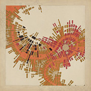 Cartography Mixed Media Prints - Cipher n. 10 Print by Federico Cortese