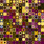 Decorator Series Prints - Circles and Squares 27. Modern Abstract Fine Art Print by Mark Lawrence