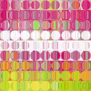 Decorator Series Prints - Circles and Squares 29. Modern Abstract Fine Art Print by Mark Lawrence