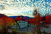 Gatlinburg Tennessee Digital Art Prints - Cirrus Clouds over Gatlinburg Print by Rebecca Korpita