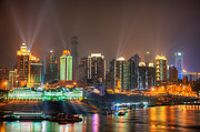 Fototrav Print - City lights of Chongqing skyline