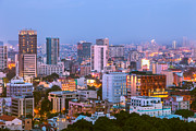 Fototrav Print - City Night Skyline  Saigon