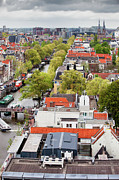 North Holland Prints - City of Amsterdam from Above Print by Artur Bogacki