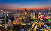 Fototrav Print - City Sunset Skyline Bangkok