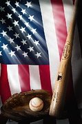 Baseball Bat Photo Metal Prints - Classic Americana Metal Print by Bill  Wakeley