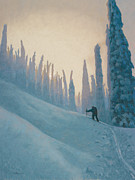 Ski Paintings - Classic Kootenay by Drew Gibson