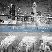 Brooklyn Bridge Digital Art Prints - Classical NYC Composing Print by Melanie Viola