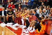 National Basketball Association Prints - Cleveland Cavaliers Bench Print by Brian Druggan