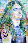 Metallica Paintings - Cliff Burton Portrait.1 by Fabrizio Cassetta
