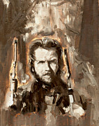 Clint Paintings - Clint Eastwood by Luis  Navarro
