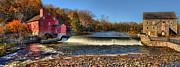 Old Mills Framed Prints - Clinton Red Mill House Panoramic  Framed Print by Lee Dos Santos