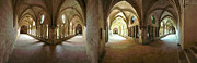 David  Zanzinger - Cloister Fontfroide Abbey Coming and...