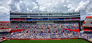 Florida Gators Posters - Clouds Over Stadium Poster by Farol Tomson