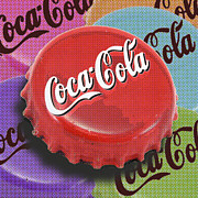 Black Top Mixed Media - Coca-Cola Cap by Tony Rubino