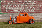 Deuce Coupe Framed Prints - Coca-Cola Time Framed Print by Thomas Sellberg