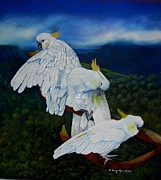 Fauna Pastels Metal Prints - Cockatoo Lookout Metal Print by Sandra Sengstock-Miller