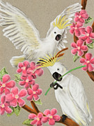 Jeanette Kabat - Cockatoo with Flowers