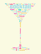 Wordcloud Prints - Cocktails Print by Shawn Hempel