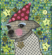 Chihuahua Artwork Framed Prints - Coco #2 Framed Print by Jen Kelly Hirai
