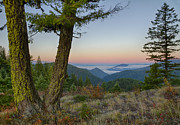 North Idaho Prints - Coeur d Alene Mountains Print by Idaho Scenic Images Linda Lantzy