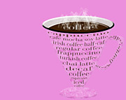 Decaf Prints - Coffee Cup The Jetsons Hot Pink Print by Andee Photography