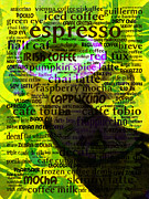 Coffee Shops Posters - Coffee Lovers Diary 5D24472p45 Poster by Wingsdomain Art and Photography