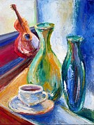 Guitar Strings Painting Originals - Coffee Vases  by Frederick   Luff  Gallery