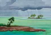 Michelle Wiarda - Cold Front in Islamorada Watercolor...