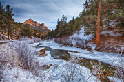 Winter Landscapes Posters - Colorado Creek Poster by Darren  White