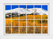 Picture Window Frame Photos Art - Colorado Rocky Mountain Autumn Pass White Window View  by James Bo Insogna