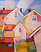 Colorful Village Framed Prints - Colorful Village Framed Print by Lutz Baar