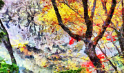 Colors Of Autumn Painting Prints - Colors of Autumn Print by George Rossidis