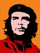 Che Guevara Prints - Colors of Che No.3 Print by Bobbi Freelance
