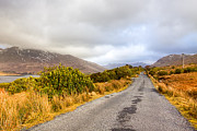 Winter Roads Prints - Connemara Roads - Irish Landscape Print by Mark E Tisdale