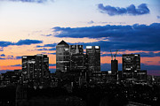 Red Sky Prints - Contrasting City Print by Stuart Perkins