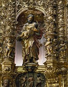 Spanish Art Sculpture Framed Prints - Costa, Pablo 1672-1728. Main Altarpiece Framed Print by Everett