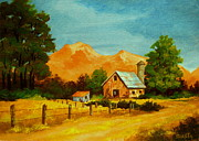 Serenity Scenes Landscapes Paintings - Country  Calm by Shasta Eone