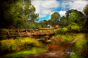 Wood Bridges Metal Prints - Country - Country living Metal Print by Mike Savad