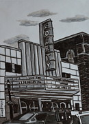 Theater Drawings - County Theater by Christina Schott