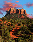 Sedona Arizona Posters - Courthouse Rock Vortex Poster by Jeffrey Campbell