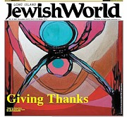 Marlene Burns - Cover of Jewish World Newspapers
