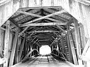 Barbara Mcdevitt Framed Prints - Covered Bridge Architecture Framed Print by Barbara McDevitt
