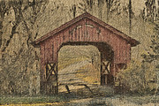 Covered Bridge Prints - Covered Bridge Farm Print by Trish Tritz