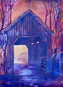 Indiana Autumn Posters - Covered Bridge Poster by James Huntley